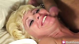 Big Boobs,Big Cock,Blonde,Blowjob,Cumshot,Double Penetration,Facial,Hairy,Fucking,Interracial