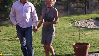Beautiful,Big Boobs,Big Cock,Blonde,Blowjob,Cumshot,Fucking,Mature,MILF,Old and young