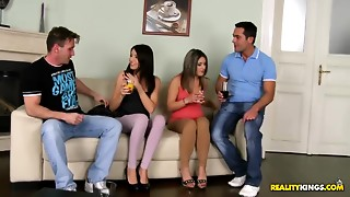 Anal,Big Boobs,Big Cock,Blowjob,Brunette,Group Sex,Fucking,Party,Petite,Reality
