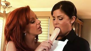Big Ass,Brunette,Lesbian,Maid,MILF,Orgasm,Redhead,Secretary,Seduced,Sex Toys