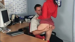 Fucking,High Heels,Office,Petite,Secretary,Stockings