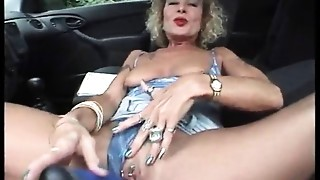 Car Sex,Masturbation,Mature,MILF,Nipples