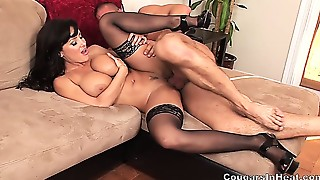 Big Boobs,Blowjob,Brunette,Cumshot,Facial,Fucking,High Heels,Mature,MILF,Old and young