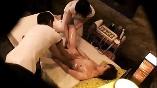 Asian,Fingering,Massage,Oiled,Threesome,Voyeur