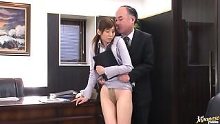 Asian,BDSM,Cumshot,Facial,Gagging,Fucking,Office