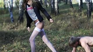 Blonde,Femdom,Petite,Public Nudity,Russian,Stockings,Teen