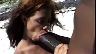 Big Cock,Black and Ebony,Blowjob,Nipples,Outdoor