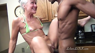 Fucking,Interracial,Kitchen,MILF,Old and young,Small Tits,Teen