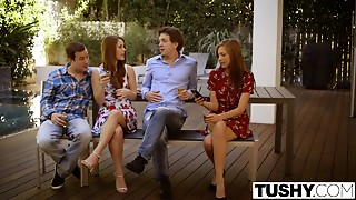 Anal,Blowjob,Double Penetration,Redhead,Threesome