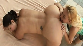 Anal,Ass licking,Close-up,Lesbian