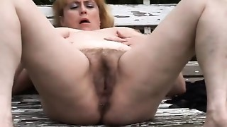 Chubby,Hairy,Masturbation,Mature,Outdoor,Squirting