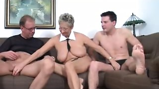 Cheating,Grannies,Fucking,Mature,Old and young,Threesome,Wife