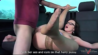 Anal,Ass licking,BBW,Big Ass,Brunette,Doggystyle,Flexible,Glasses,Hairy,Fucking
