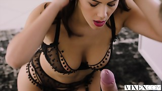 Blowjob,Brunette,Doggystyle,Lingerie,Secretary,Seduced