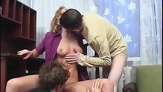 Blonde,Group Sex,Fucking,Mature,MILF,Stepmom,Threesome
