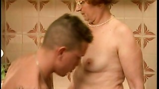 Blowjob,Grannies,Fucking,Kitchen,Mature,Old and young,Redhead,Teen