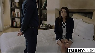 Anal,Ass to Mouth,Blowjob,Brunette,Doggystyle,Facial,Gaping,School,Spanking,Student