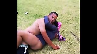 Black and Ebony,Caught,Couple,Fucking,Public Nudity,Uniform