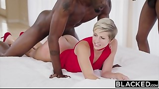 Big Cock,Black and Ebony,Blowjob,Brunette,Cumshot,Doggystyle,Double Penetration,Facial,Fucking,Housewife