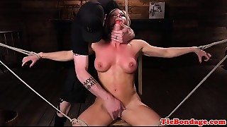 BDSM,Blonde,Extreme,Fingering,Gagging,Lingerie,Squirting