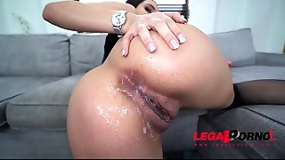 Anal,Ass to Mouth,Big Ass,Big Boobs,Brunette,Creampie,Double Penetration,Gaping,Fucking,Sex Toys
