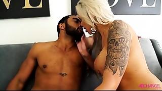 Big Boobs,Big Cock,Bikini,Black and Ebony,Blonde,Blowjob,Cumshot,Doggystyle,High Heels,Interracial
