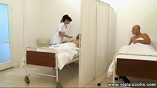 Blowjob,Brunette,Doctor,Nurse,Public Nudity,Uniform