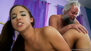 Anal,Blowjob,Brunette,Old and young,Sex Toys,Teen