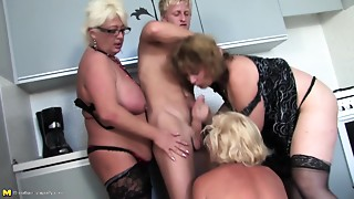 Grannies,Group Sex,Fucking,Mature,MILF,Old and young,Stepmom,Teen