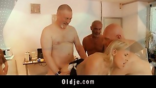 Blonde,Blowjob,Cumshot,Daddy,Doggystyle,Gangbang,Grannies,Fucking,Old and young,Russian